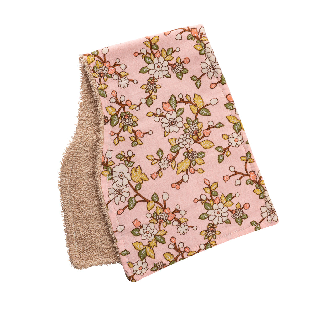 Peachy Poppy Burp Cloths