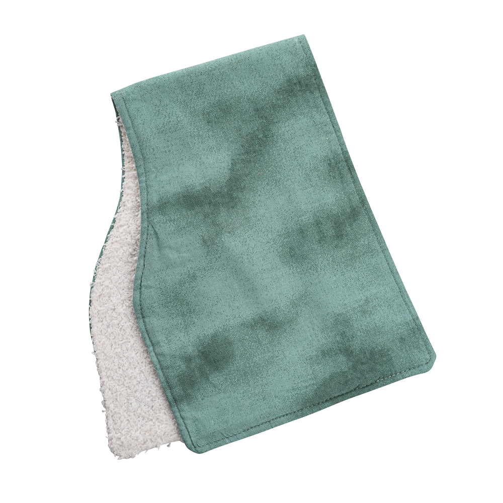 Smokey Teal Burp Cloths