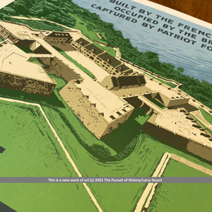 Fort Ticonderoga limited edition print — Signed and numbered — Only 200 printed
