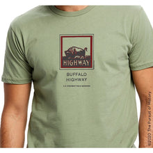 "Load image into Gallery viewer, ""America's Highway Pole Markers Series: Buffalo Highway"" Shirt"