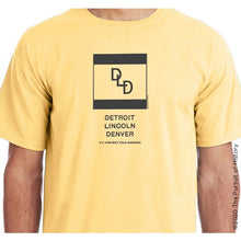 "Load image into Gallery viewer, ""America's Highway Pole Markers Series: Detriot Lincoln Denver"" Shirt"
