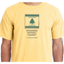 "Load image into Gallery viewer, ""America's Highway Pole Markers Series: Evergreen National Highway"" Shirt"
