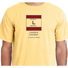 "Load image into Gallery viewer, ""America's Highway Pole Markers Series: Lincoln Highway"" Shirt"
