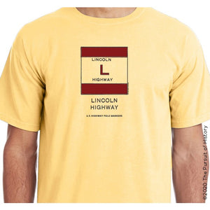 """America's Highway Pole Markers Series: Lincoln Highway"" Shirt"