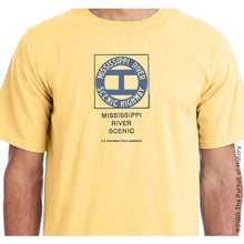 "Load image into Gallery viewer, ""America's Highway Pole Markers Series: Mississippi River Scenic Highway"" Shirt"