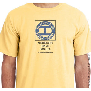 """America's Highway Pole Markers Series: Mississippi River Scenic Highway"" Shirt"