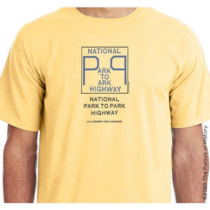 """America's Highway Pole Markers Series: National Park to Park Highway"" Shirt"