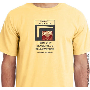 """America's Highway Pole Markers Series: Twin City, Black Hills, Yellowstone Highway"" Shirt"