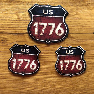 """Route 1776"" Sticker"