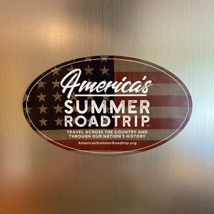 "America's Summer Roadtrip Magnet (5""x3"")"