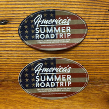 "Load image into Gallery viewer, America's Summer Roadtrip Sticker (5""x3"")"