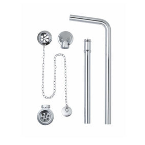 Bc Designs Exposed Bath Waste / Plug & Chain With Overflow Pipe