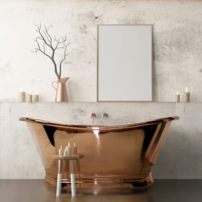 Bc Designs Freestanding Copper Boat Bath Copper