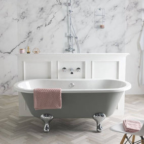 Bc Designs Elmstead Double Ended Bath With Feet Set 1 & Overflow