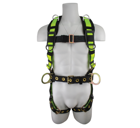 Pro Construction Harness with Shoulder Retrieval D-rings
