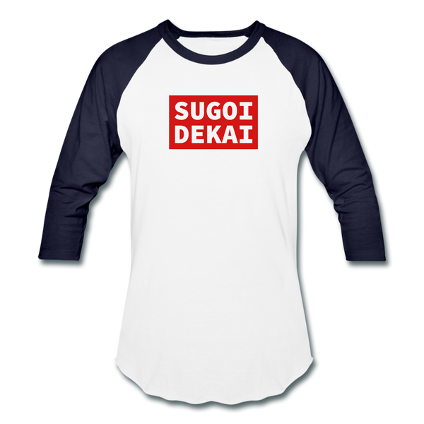 Sugoi Baseball T - white/navy