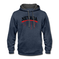 Nevada-tan Contrast Hoodie - indigo heather/asphalt