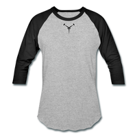 Team ESDEATH Baseball T-Shirt - heather gray/black