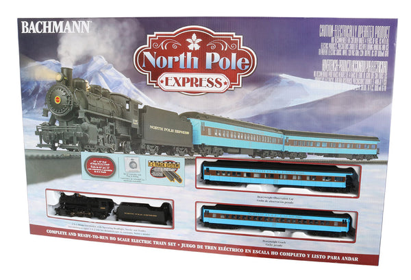 Bachmann 00751 North Pole Express 2-6-2 Steam Engine Passenger Train Set HO SCALE