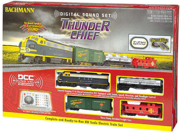 Bachmann 00826 Santa Fe Thunder Chief Train Set HO SCALE with Digital Sound DCC