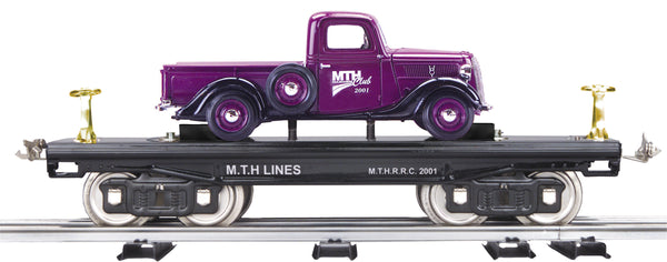 MTH 10-1163 200 Series Flat Car with Purple Pick-up Truck Std. Gauge