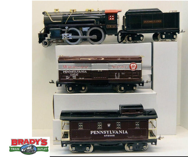 MTH 10-1235-1 Pennsylvania Railroad PRR 384 Steam Freight Set Tinplate Standard Gauge