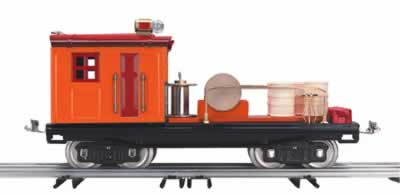 MTH 10-2003 Dark Red and Orange with Brass Trim Work Caboose 200 Series Std. Gauge Tinplate