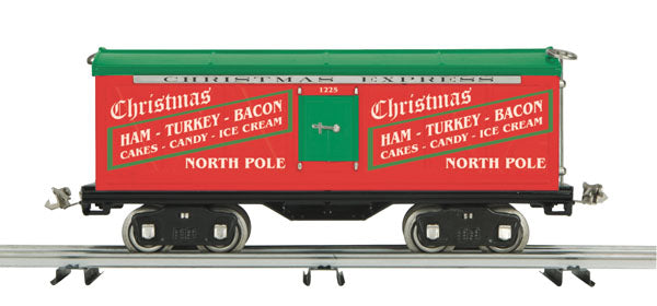 MTH 10-2224 500 Series Std. Gauge Reefer Car #1225 Christmas