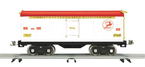 MTH 10-2233 Christmas 500 Series Std. Gauge Reefer Car - No. 514R