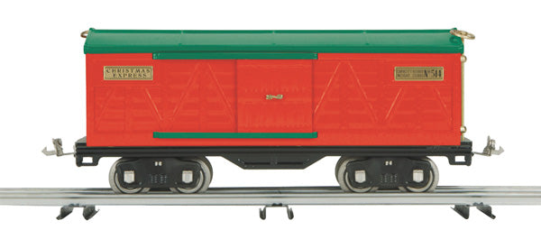 MTH 10-2236 Christmas Express #514 500 Series Standard Gauge Box Car Red with Green Roof