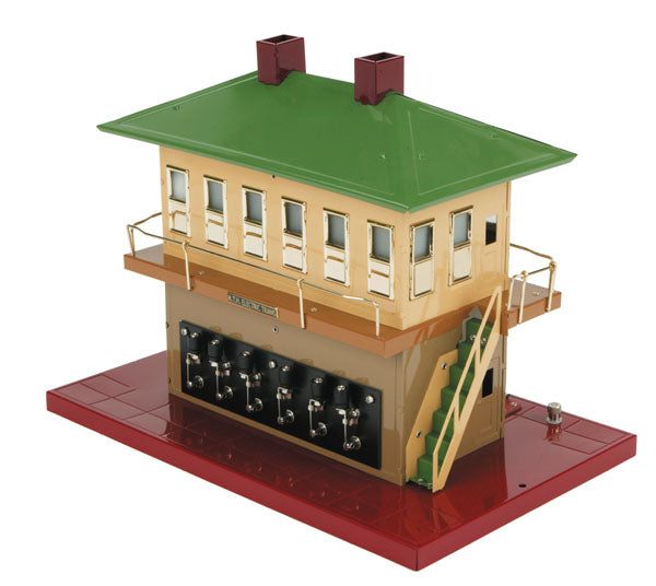 10-4053 American Flyer (AF) Standard Gauge Switch Tower Green / Cream/ Maroon