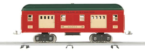 10-5077 Christmas 330 Series Baggage Car No. 332 Santa Standard Gauge