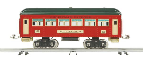 MTH 10-5090 Christmas 330 Series Passenger Car No. 339 Reindeer Standard Gauge
