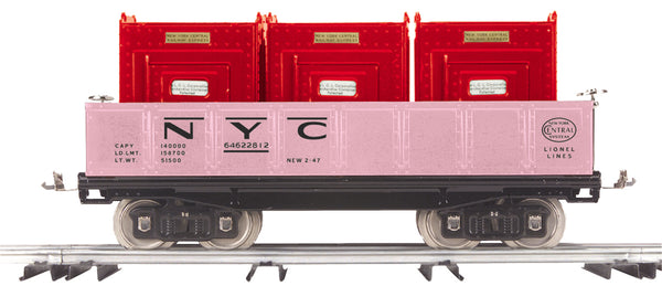 MTH 11-30152 New York Central NYC (Girl's w/3 Red Containers)  No. 212 Standard Gauge