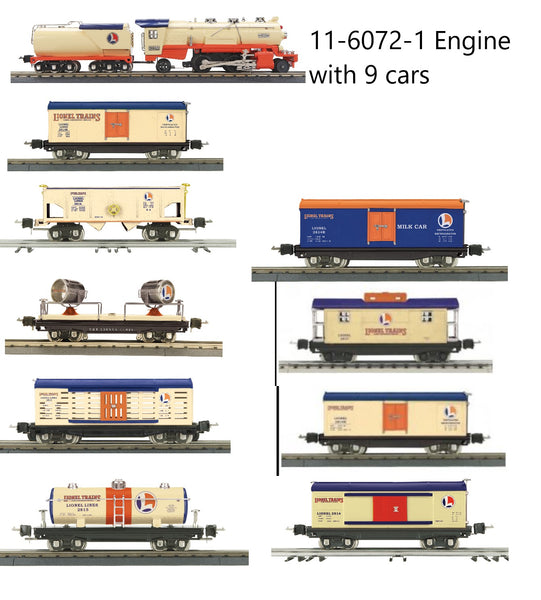 MTH 11-6072-1 Lionel Corporation Tinplate 263E Tinplate Loco & Tender w/Proto-Sound 3.0 with 9 cars O Gauge