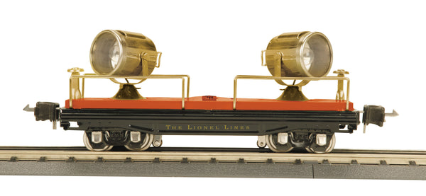 MTH 11-70015 Terra Cotta w/Brass trim 2820 Floodlight Car O Gauge Tinplate