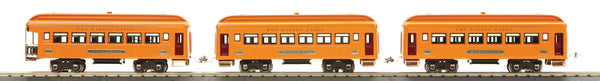 MTH 11-80019 Lionel Lines Orange 3-Car 710 Series Passenger Set - O Gauge Tinplate