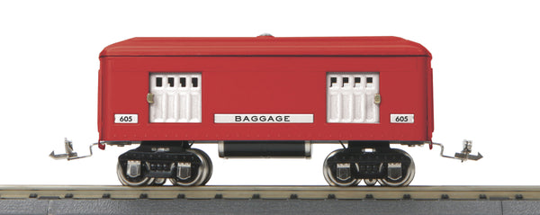 MTH 11-80036 Red Comet 605 Baggage Passenger Car  O Gauge Tinplate