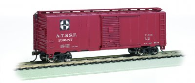 Bachmann 15007 Santa Fe 40' Steam Era Boxcar #136287 HO Scale