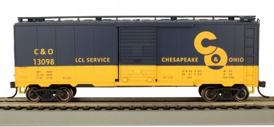Bachmann 16002 Chesapeake & Ohio C&O 40' PS-1 Boxcar #13098 HO Scale