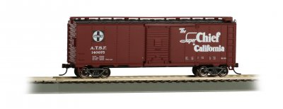 Bachmann 16501 Santa Fe Super Chief 40' Map Boxcar HO Scale