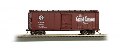 Bachmann 16503 Santa Fe Grand Canyon 40' Map Boxcar HO Scale
