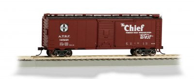 Bachmann 16505 Santa Fe Chief 40' Map Boxcar HO Scale