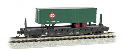 Bachmann 16752 Baltimore & Ohio B&O 52FT Flat Car w/Railway Express Agency 35FT Trailer N Scale