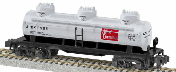 Lionel 1919272 American Flyer Allied Chemical Three Dome Tank Car S Gauge