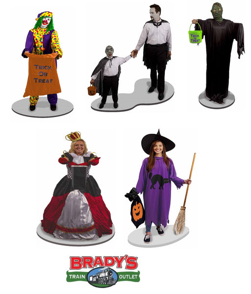 Lionel 1930070 Halloween Trick or Treaters Figures Pack O Scale