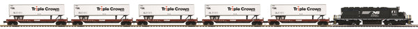 MTH Premier 20-20154-1 Norfolk Southern NS SD40-2 Triple Crown Freight Set w/5 cars
