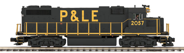MTH Premier 20-20483-1 Pittsburgh & Lake Erie P&LE GP38-2 Diesel Engine With Proto-Sound 3.0 (Hi-Rail Wheels) Cab 2057 Displayed