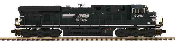 MTH Premier 20-20503-1 Norfolk Southern NS (Black)  ES44AC Diesel Engine w/Proto-Sound 3.0 (Hi-Rail Wheels) Cab No. 8046