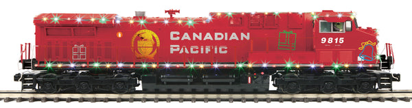MTH Premier 20-20800-1 Canadian Pacific (2009 Holiday Train AC4400cw Diesel Engine w/Proto-Sound 3.0 (Hi-Rail Wheels) Cab No. 9815